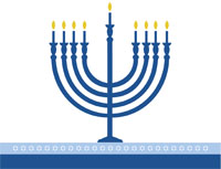 Hanukkah8 Greeting Card (4x55)